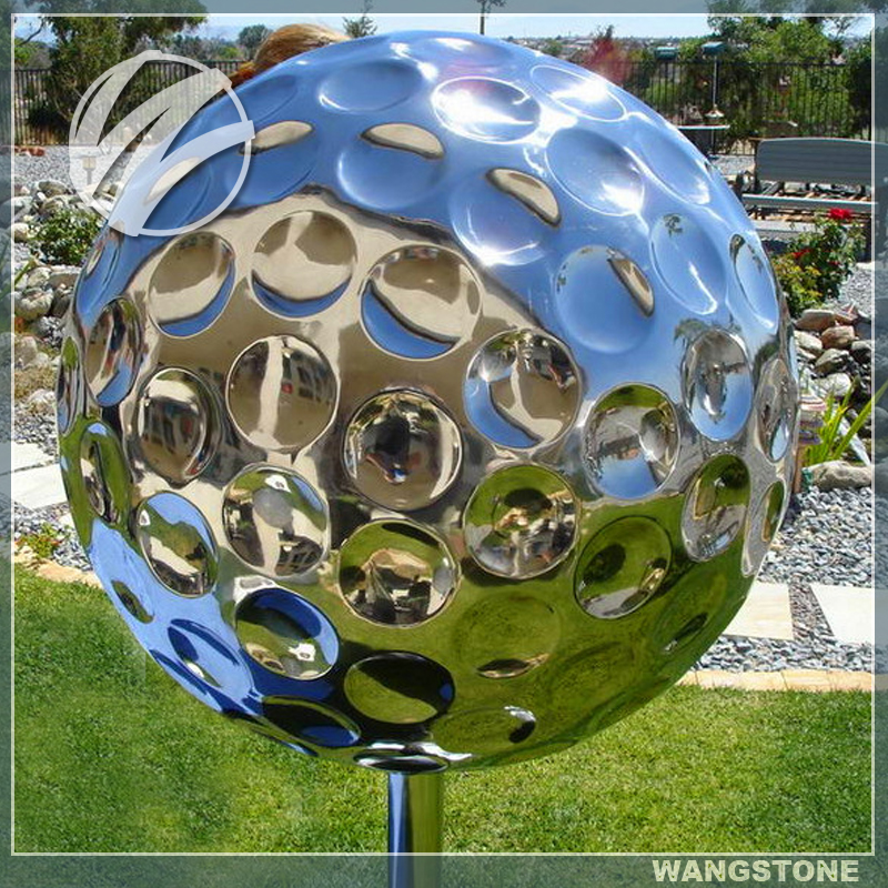 Garden Mirror Polished Stainless Steel Golf Statues