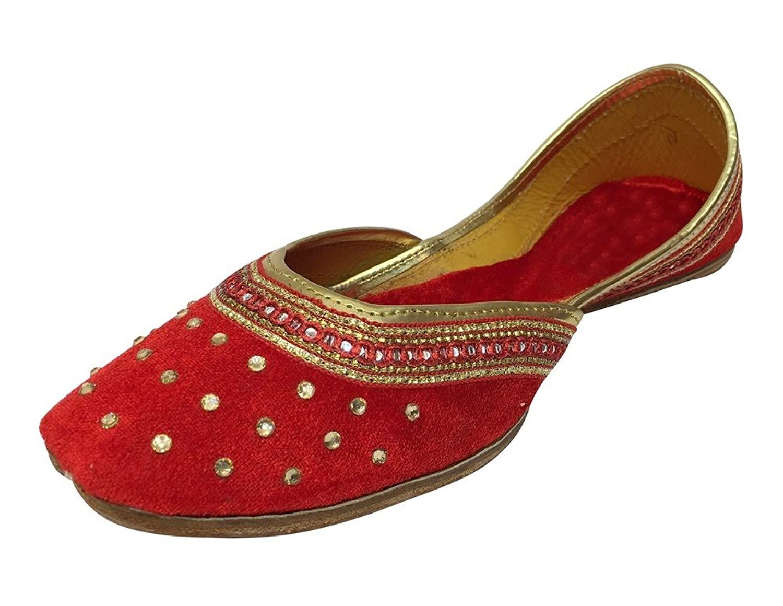 c6651c0d1329 Get Quotations · Step n Style Punjabi Jutti Flat Shoes Wedding Shoes Khussa Shoes  Indian Shoes Juti