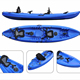 family ocean kayak Fishing Kayak sit on top with 4 flush mounted rod holder