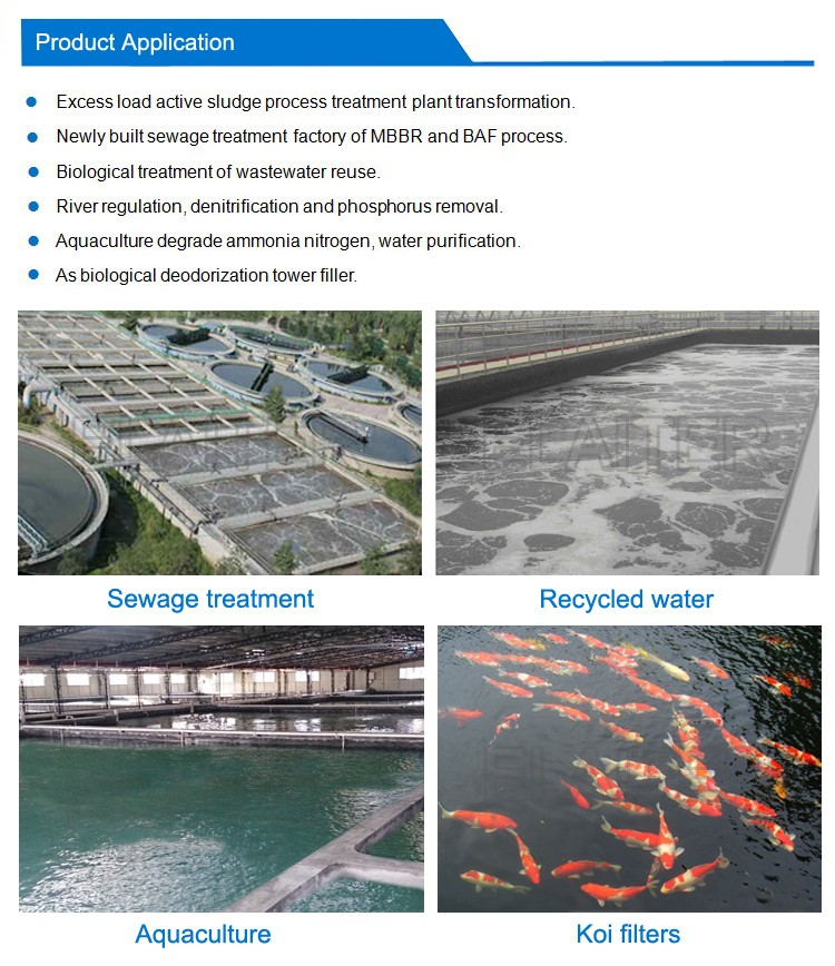 Bio filter media biofilm carrier for bio trickling for Koi treatment