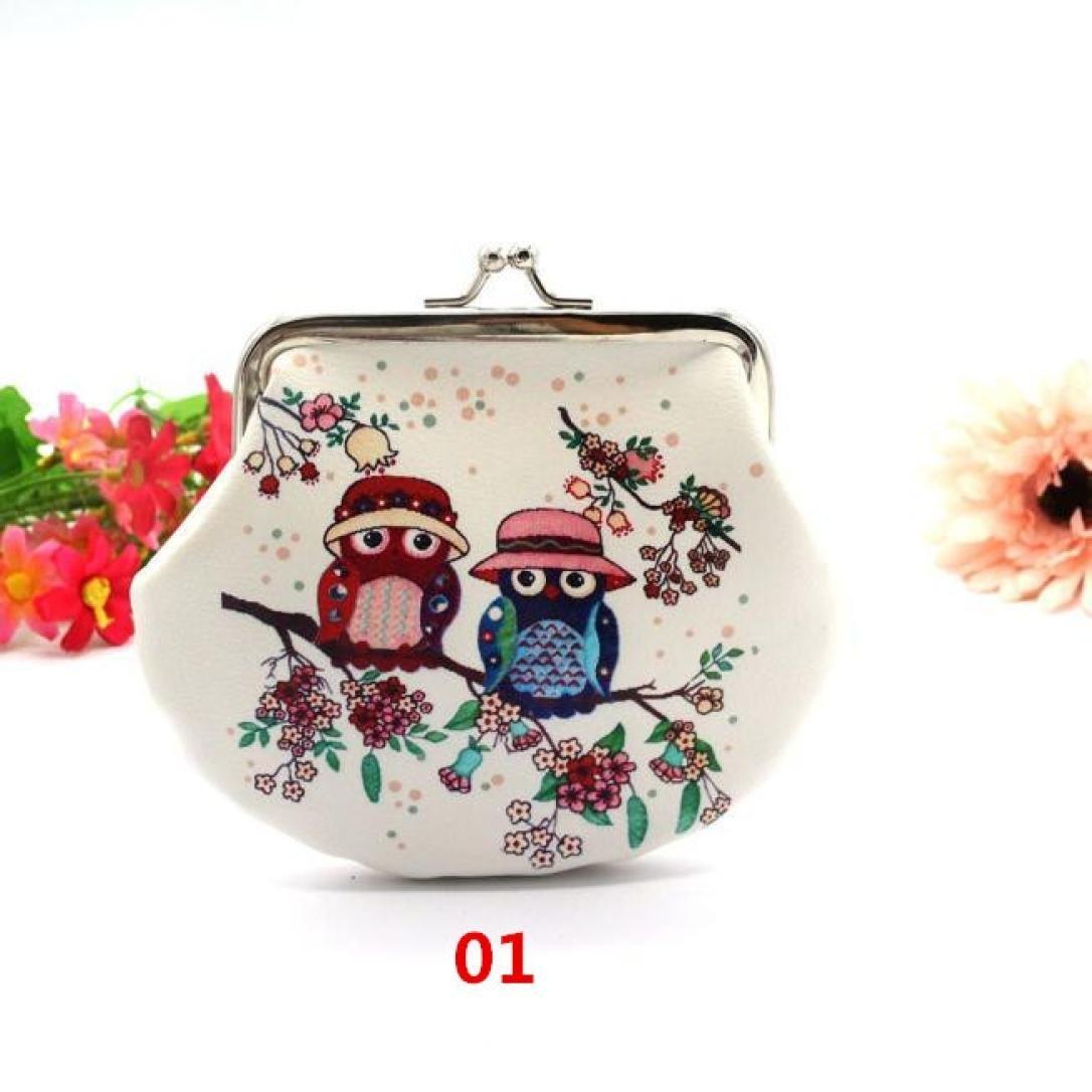 Deal Womens Retro Womes Flower LonWomens Vintage Flower Mini Wallet Coin Purse Clutch Handbag Noopvan Wallet