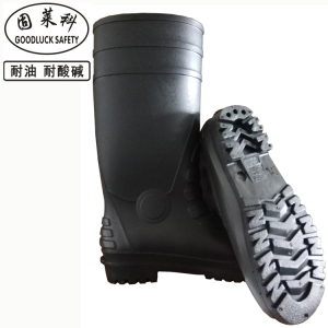 waterproof pvc black rain boots