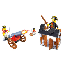 Wange Pirates Plastik 109 Pcs Well <span class=keywords><strong>Desain</strong></span> Bangunan Block Mainan