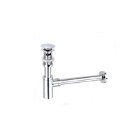 Good quality brass material push down pop up Basin waste drainer with overflow