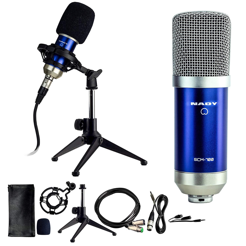 Nady SCM-700 Large Diaphragm Studio Condenser Microphone, Cardioid