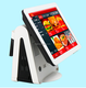 Double screen touch pos system ordering system for restaurant