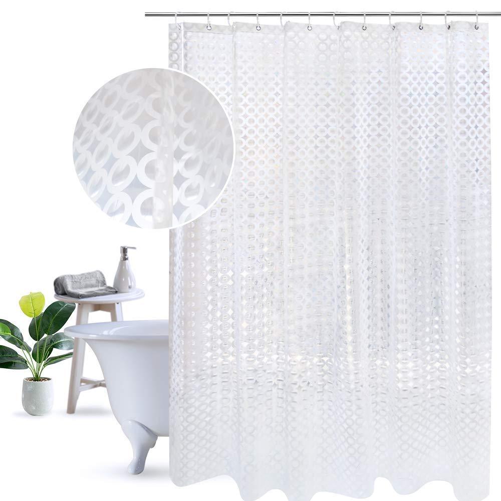 Get Quotations UFRIDAY Unique Shower Curtain 3D Effect Circle Design Waterproof Mildew Free PEVA Liner