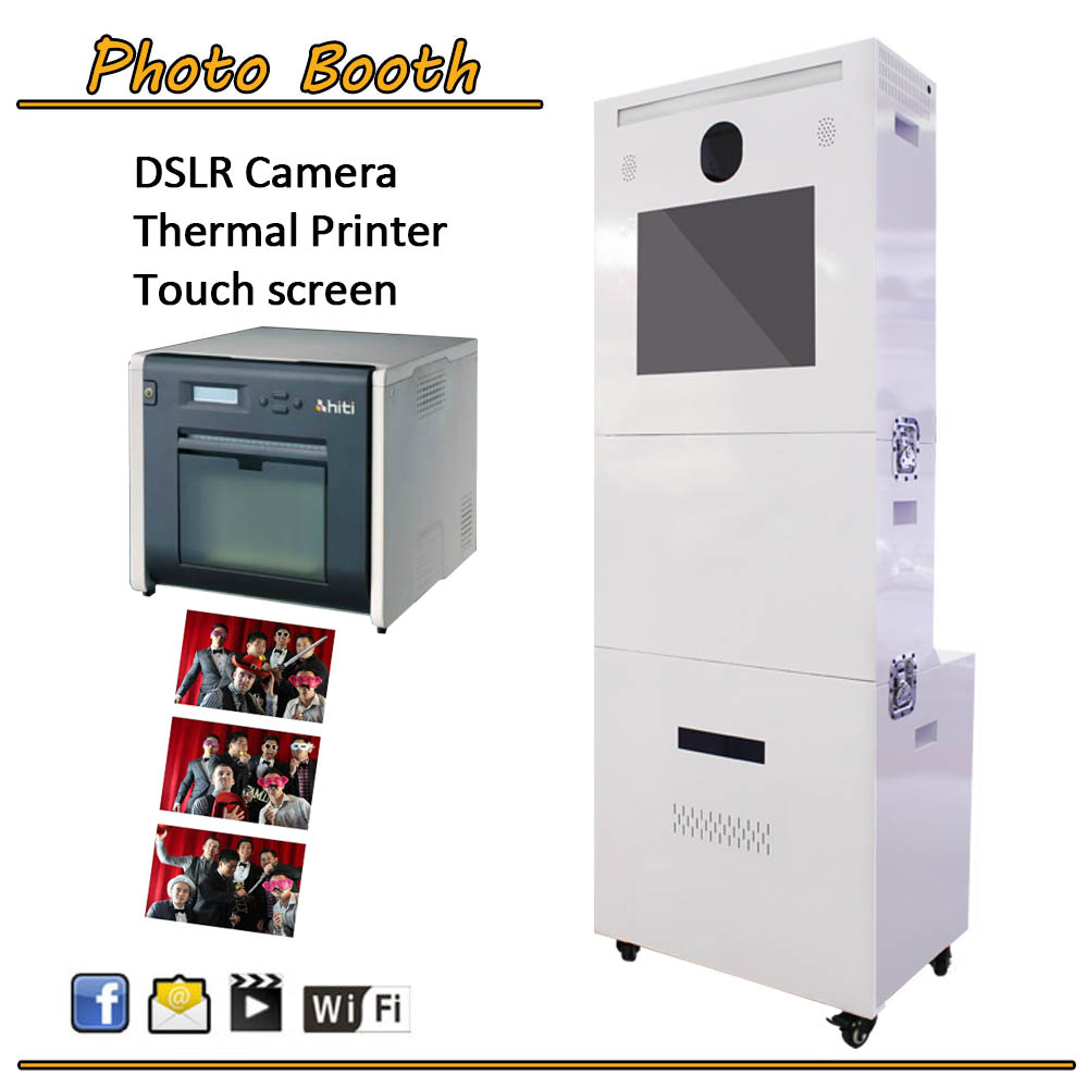 Photobooth Portable With Printer Vending Kiosk Display Advertising