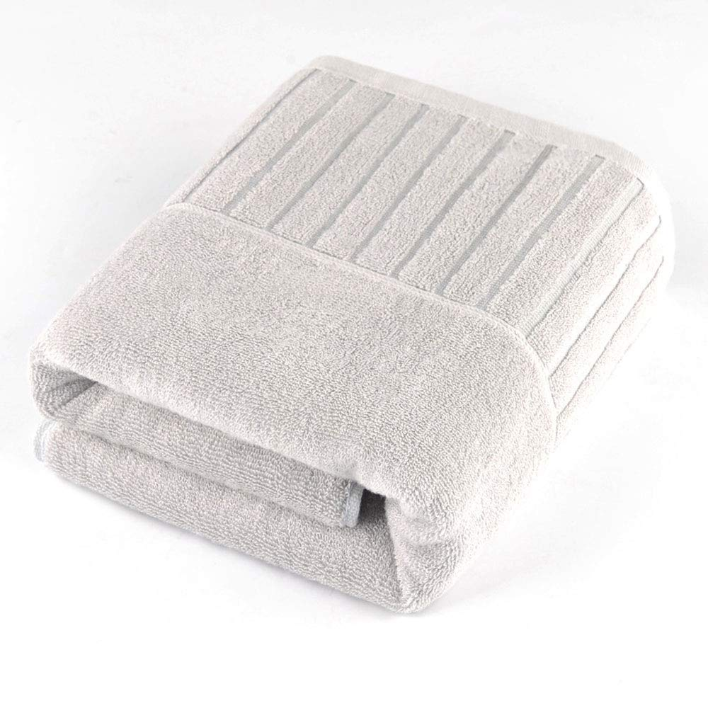 Bamboo Fiber Bath Towel, Oversized, Soft, Highly Absorbent and Fast Drying, Antibacterial, Non-Fading, Multi-Purpose for Sports, Travel, Fitness, Yoga(27x55 Inches) - 3 Colors (Color : Gray)