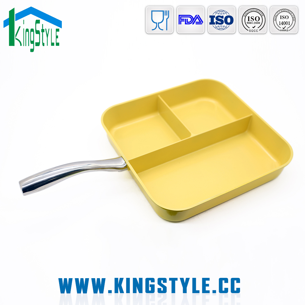 Non stick grill pan for baking, home kitchen appliance fish fry pan