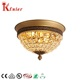 Popular Modern Design Bedroom Living Room Round Vintage Decorative Metal Glass Crystal E14 Ceiling Light Ceiling Lamp
