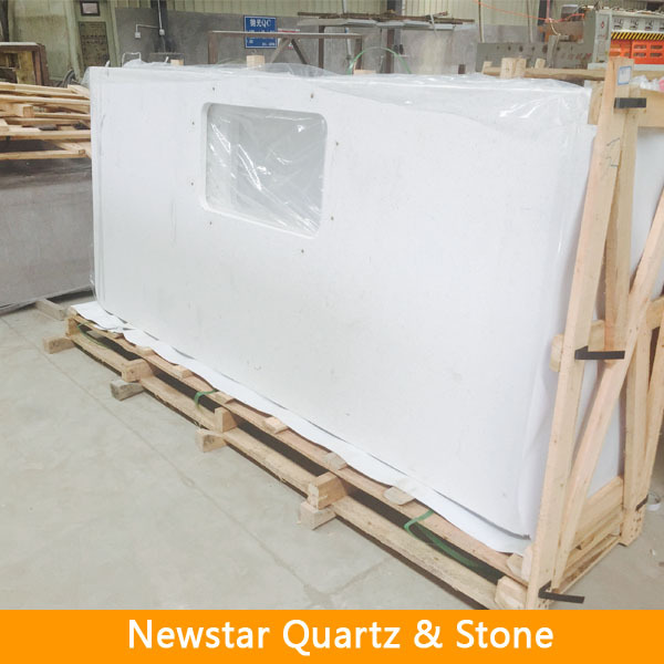 Carrara white engineered quartz stone countertop buy for Engineered quartz countertop colors