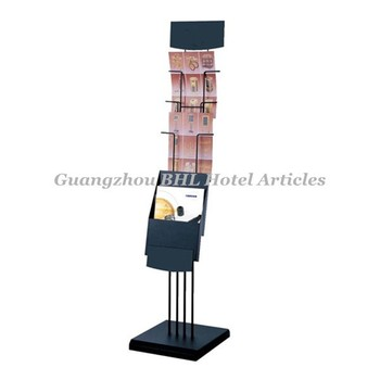 Beau Guangzhou Hotel Supplies Metal Library Magazine Rack Stainless Steel  Newspaper Rack Office Brochure Display Rack J3