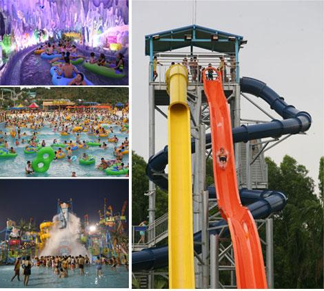 Qingfeng 2017 carton fair crazy Highest speed combination water slide water park equipment sale