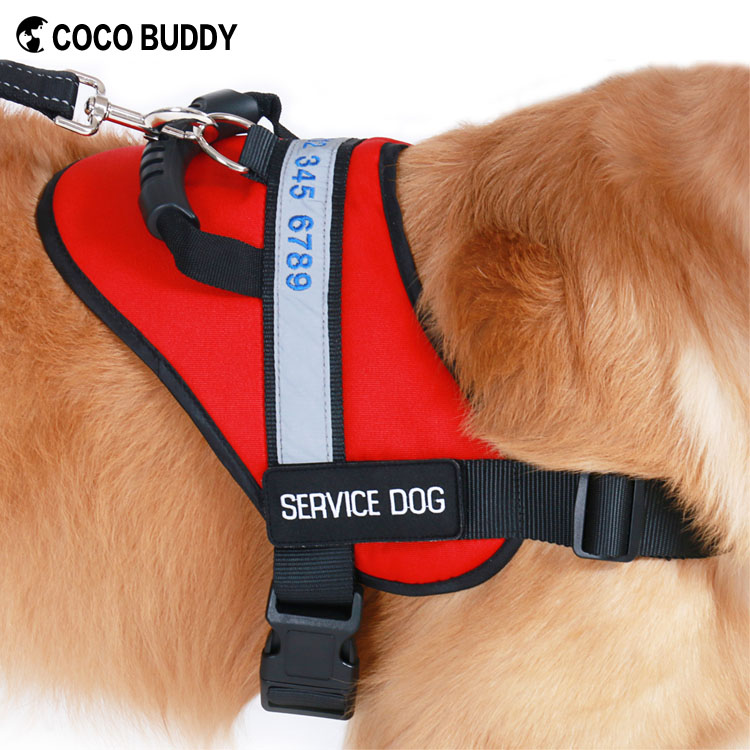 Personalized SERVICE DOG Harness Reflective Vest for Work Dogs