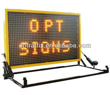 Optraffic OEM Outdoor Use Road Safety Traffic Contorl LED Signs Truck Mounted VMS Variable Message Signs