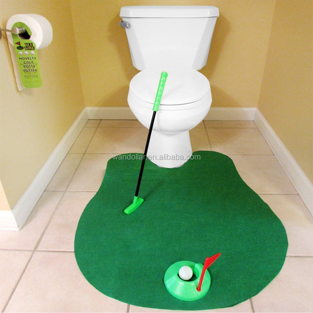 Amazon hot Funny Potty Putter Toilet Golf and Mini Golf Game