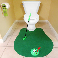 Amazon hot Divertente Potty Putter Toilet <span class=keywords><strong>Golf</strong></span> e Mini Gioco <span class=keywords><strong>di</strong></span> <span class=keywords><strong>Golf</strong></span>