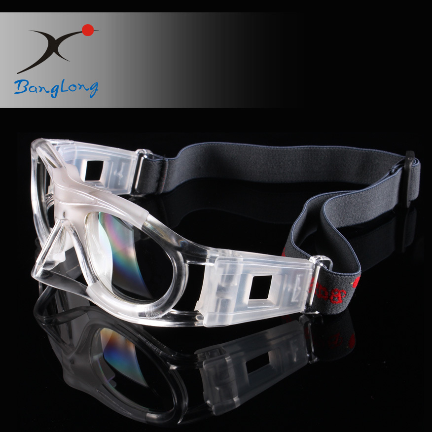 Safety basketball goggles with nose bridge protector