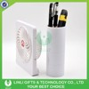 2017 Plastic USB rechargeable Potrable Mini Fan with Pen Holder