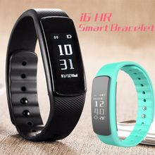 Waterproof smart bracelet i6 hr Real Time Heart Rate Sports Sleep Monitor Pedometer Health Fitness Activity wristband
