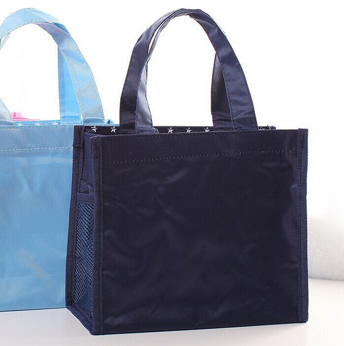 high quality blank various color polyester shopping handles shoulder tote carry bag