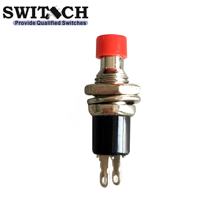 2 pins SPST brass steel IP40 momentary push button <strong>switch</strong>