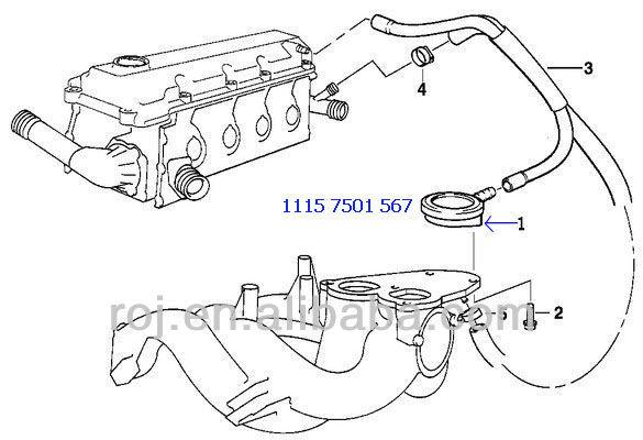pressure regulating valve engine breather pcv 11 15 7 501 567