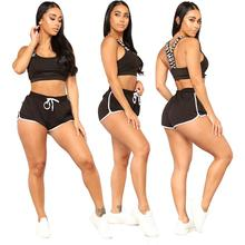 Groothandel custom spandex sexy hoge waisted biker <span class=keywords><strong>shorts</strong></span> voor vrouwen