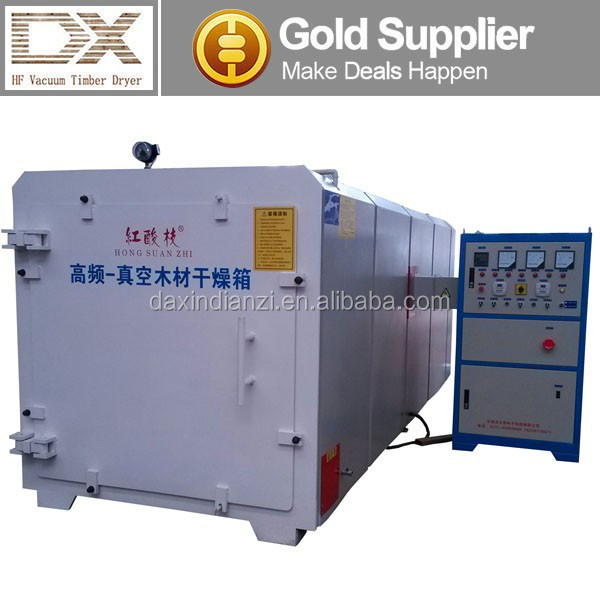 GZ-6.0-DX high frequency hf red oak lumber drying kiln,plc control system