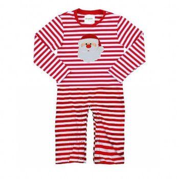 Wholesale Latest Infant Onesie Red Striped Santa Romper Cotton Baby