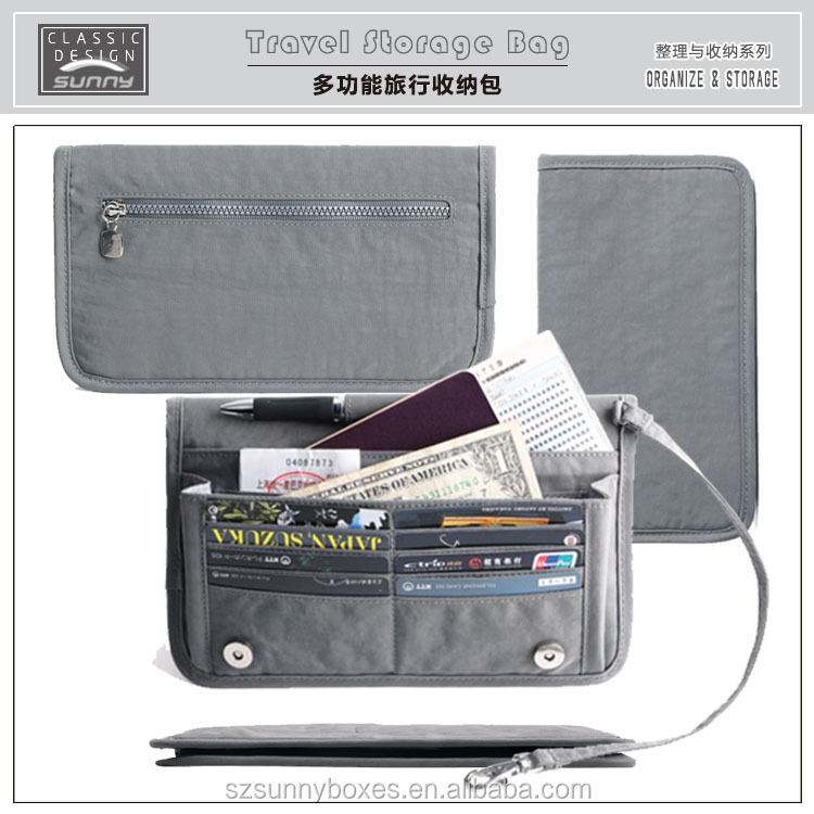 Wholesale Ultra Slim Nylon Fabric Passport Business/ID Card Portable Wallet Holder