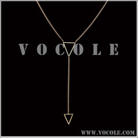 Hollow Triangle pendant Charm Thin Chain Necklace - Ebay / Amazon Supplier