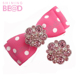 colorful pink small rhinestone button for bowtie