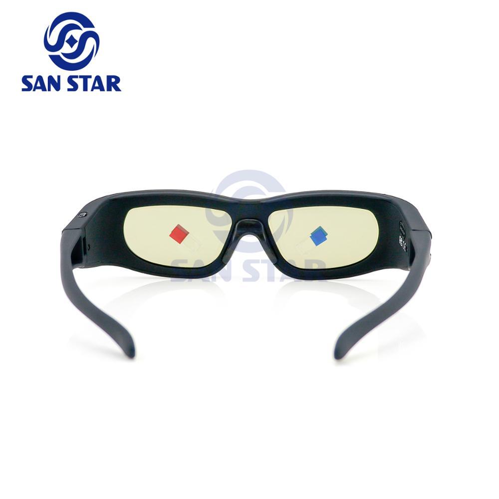 35bec1f3016a6 Obturador ativo Óculos 3D Compatibilidade Padrão para Todos Os Projetores  DLP 3D Ligação ...
