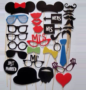 Photo Booth Props Mustache On A Stick Wedding Party Photobooth Funny Masks Bridesmaid Gifts For Wedding Decoration