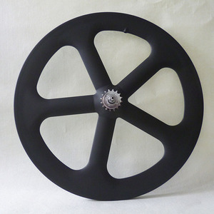 T700 carbon 5-spoke fixie wheel 3K matte