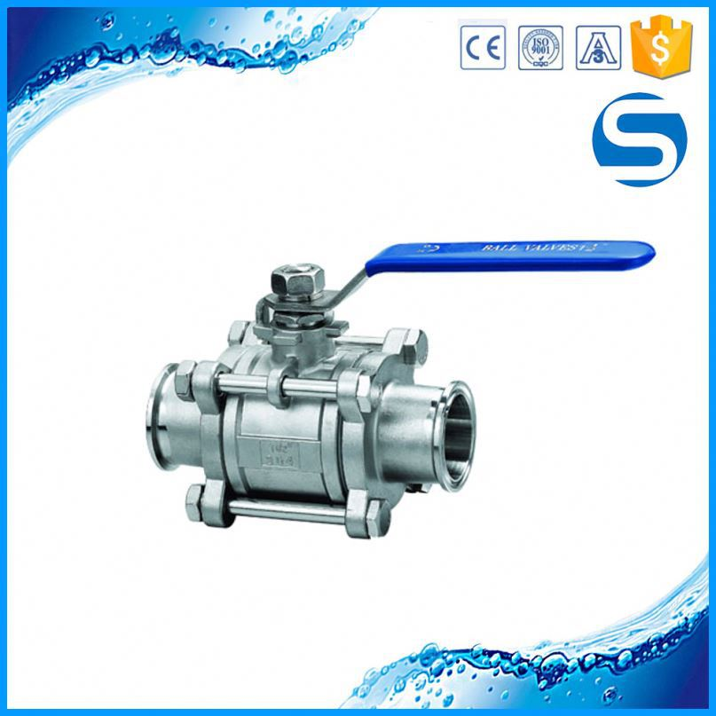 Wholesale Sanitary Pipe Fitting sanitary thread three-way ball valve