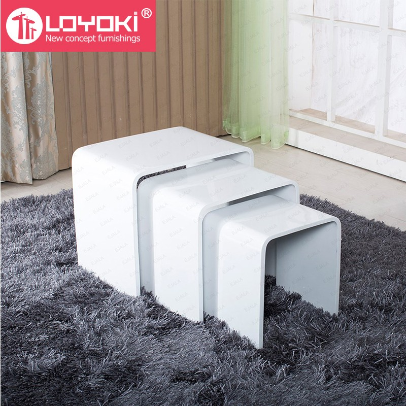 New Design High Gloss Set Of 3 Nest Table Mdf Wood Side Table Living Room  Coffee Table - Buy Coffee Table,Side Table,Wood Table Product on Alibaba.com