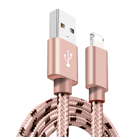 2018 new design Fast charge 2in1 Nylon Braided Fast Charging USB Cable for iPhone X 10 8 plus 7 6 Data Charging Micro USB Cable