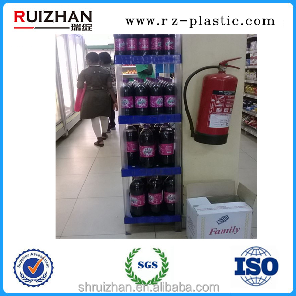 Plastic Displays for Beverage PVC Triangular Groove&Square Pipe