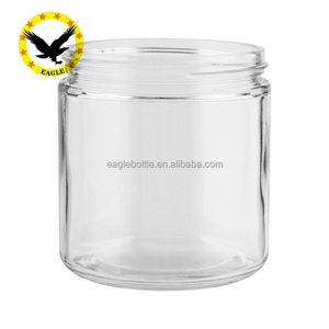 16 oz 470ml Straight Sided Transparent Glass Jars with plastic cap 89mm 89-400