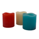 pillar colorful led scented candles for birthday and reception