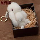 2019 Fashion Accessory Pompom Fullfy Mink Fur rabbit keychains