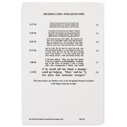 Snellen X-Cyl Jaeger Card