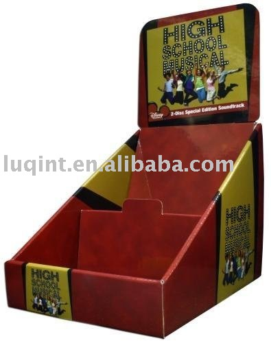 counter display, display box, CD/DVD display box