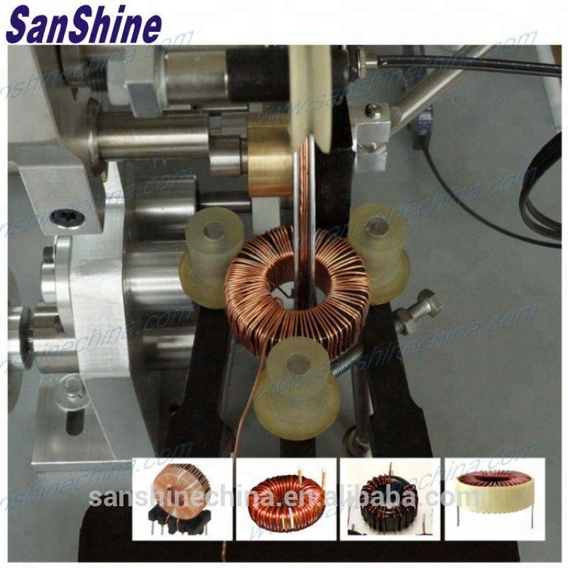 Automatic converter inductors toroid coil winding machine(SS900B6 series final coil OD 10~80mm) replace JVOIL toroidal winder