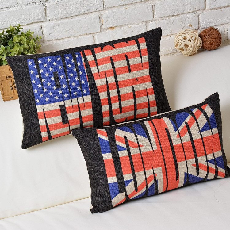 Creative letters Burlap Cushion Cover Modern design Cushion Cover cartoon  minimalist Flag Cushions Home Decor free shipping ~ Minimalist Home Decor ~  Olivia ... 5b87d26045ff