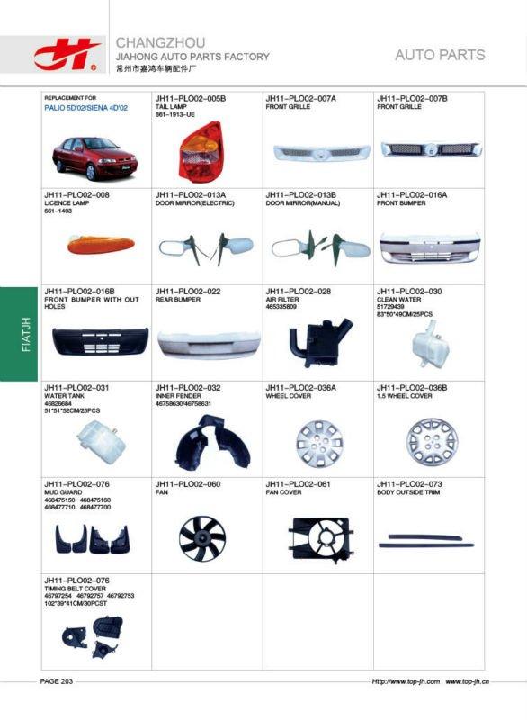 voiture pour fiat palio 5d 39 02 siena 4d 39 02 pi ces de rechange page203 autres pi ces d. Black Bedroom Furniture Sets. Home Design Ideas