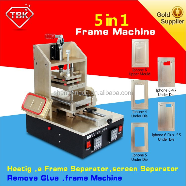 Free moulds!! 5 in 1 LCD repair seperate machine frame fixer oca glue remover Pressure support frame for iphone 6 for samsung